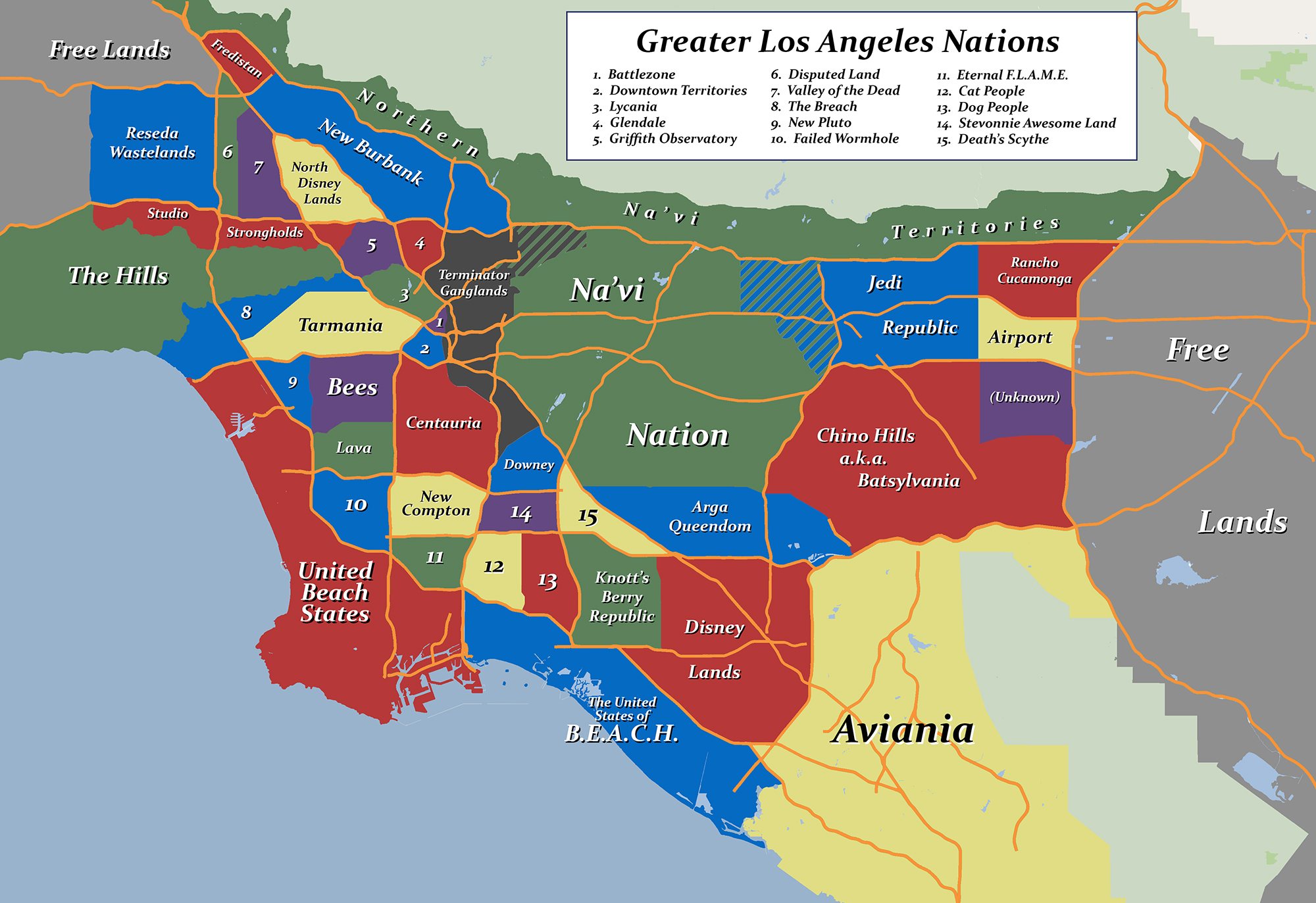 New Nations Form In Los Angeles Gridlock The New Romford Free Press - Los angeles map gangs